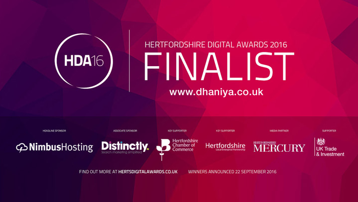 Finalist for MK Digital Awards 2016 Milotn Keynes website designer